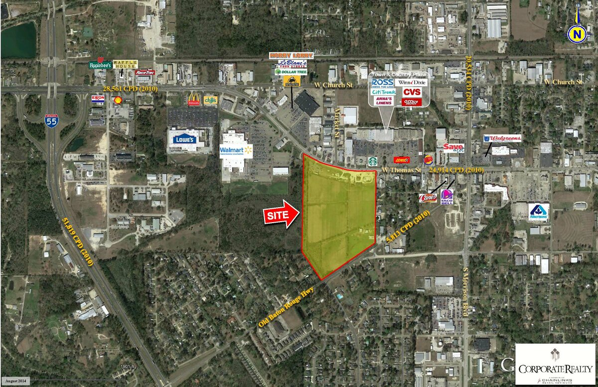 W Thomas St Market St Hammond LA Vacant Land for Sale