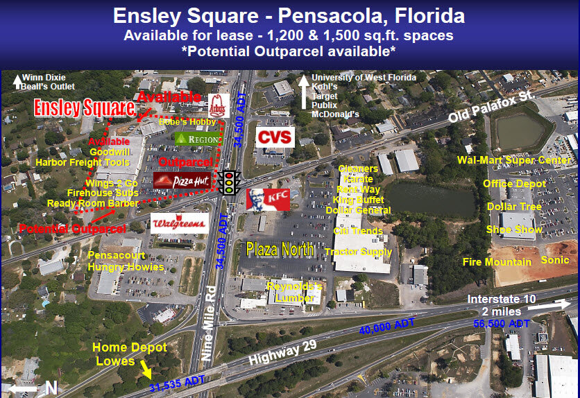 2 e 9 mile rd pensacola fl retail commercial for lease