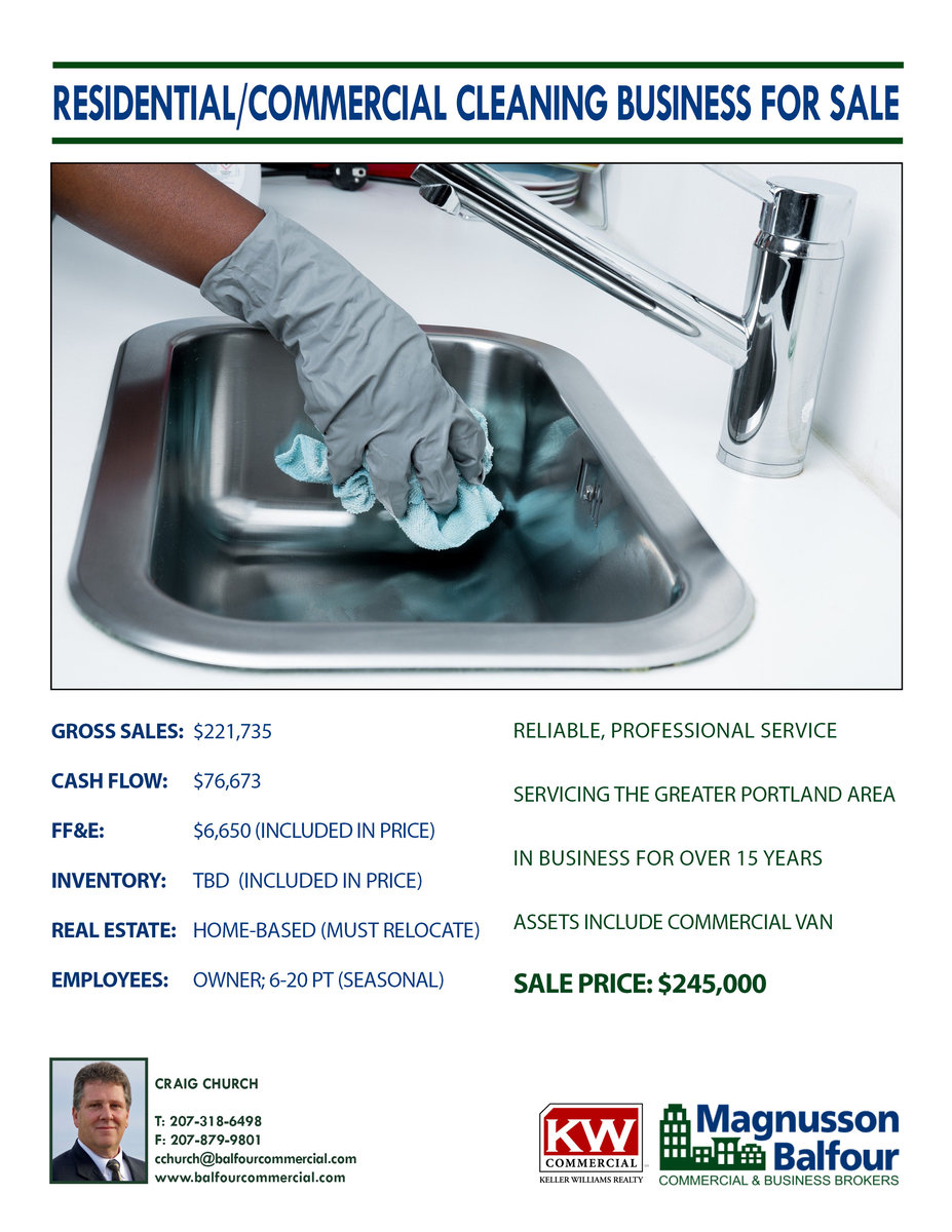 Residential/Commercial Cleaning Biz for Sale