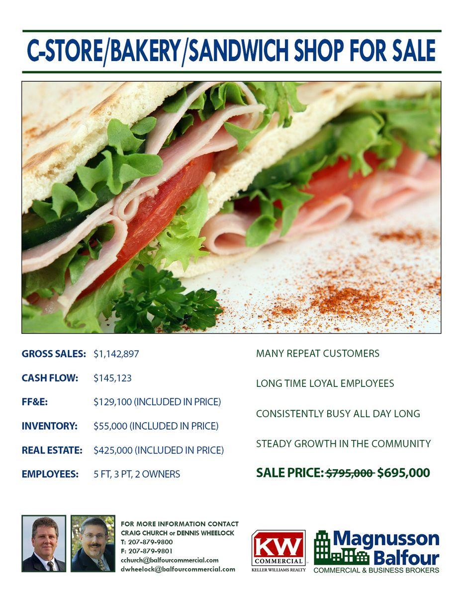 C-STORE/BAKERY/SANDWICH SHOP FOR SALE