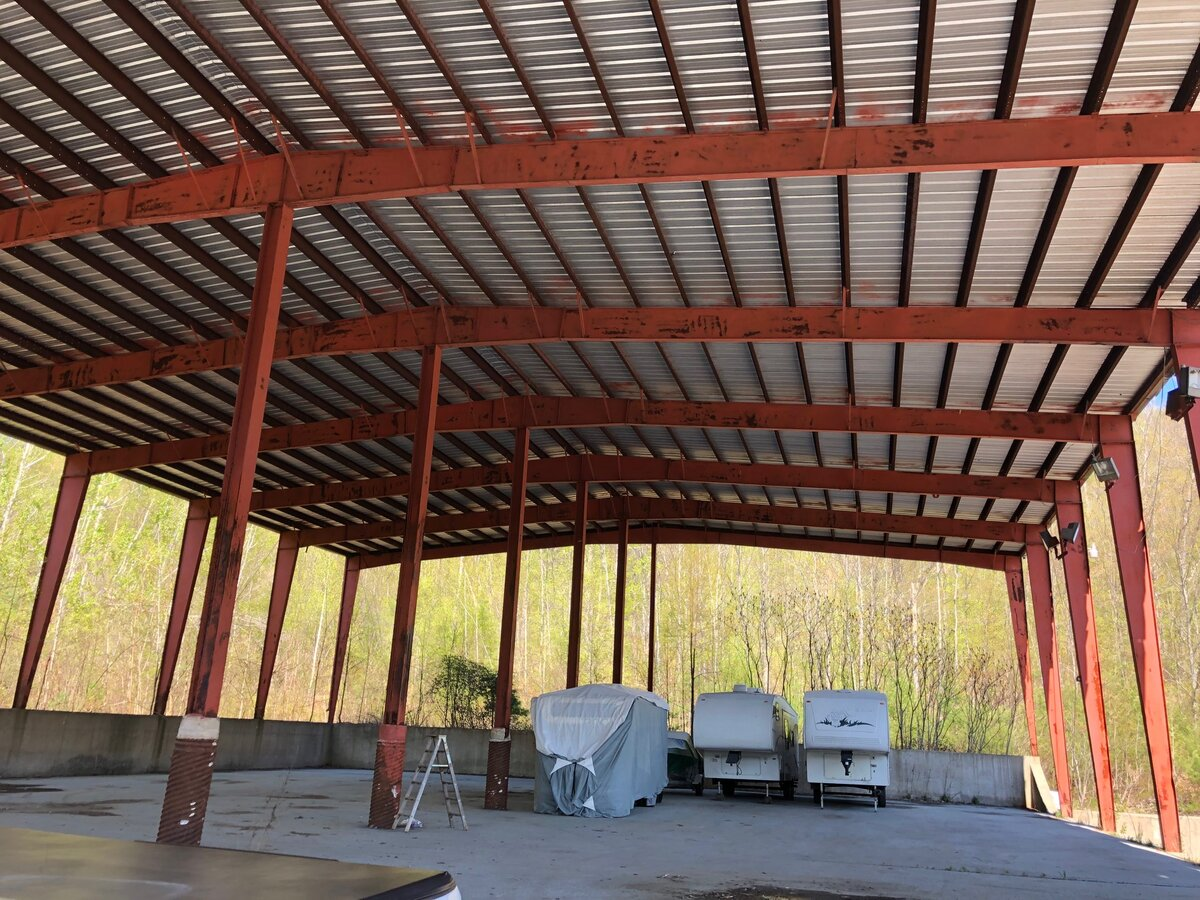 LARGE STEEL PAVILION AND HOME FOR SALE